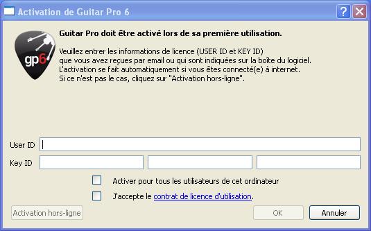 keygen guitar pro 6 offline activation